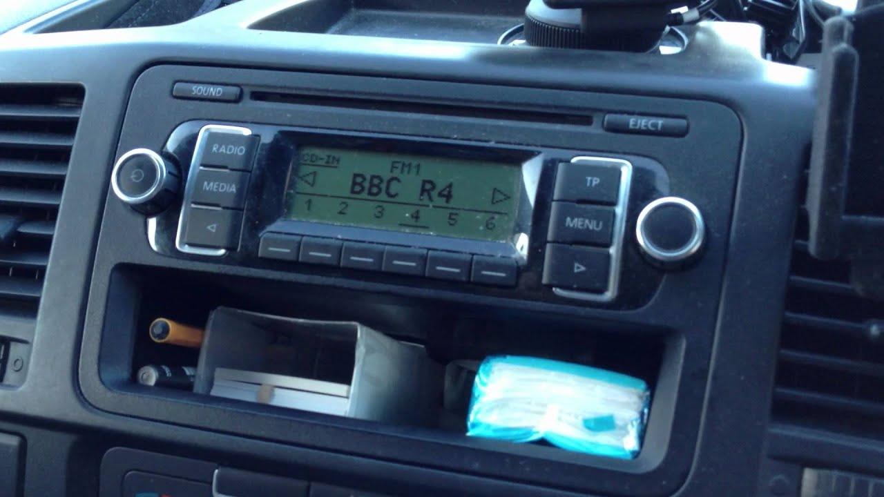vw transporter t5 stereo wiring diagram ezgoo radio fault youtube
