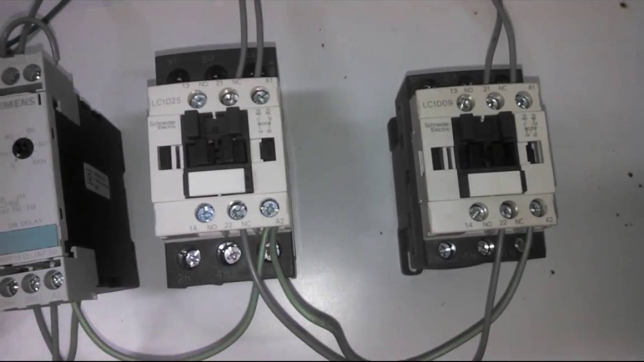 2 Star Delta starter with drawing (with control wiring