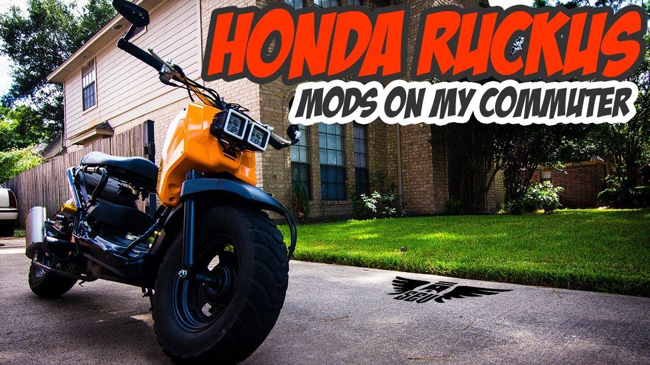 Honda Ruckus MODS for an everyday commuter ride