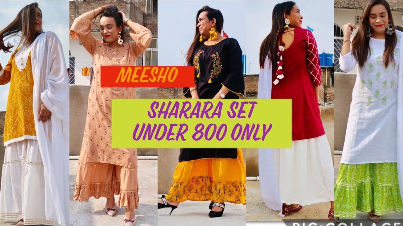 Meesho से ख़रीदे सबसे सस्ता Sharara Set और kurti Set | Under 800 only /-|