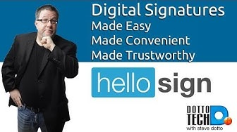 Online Legal Signatures, HelloSign