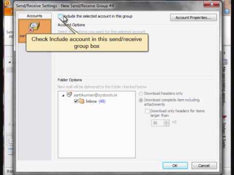 Get rid of outlook error code 0x800ccc90