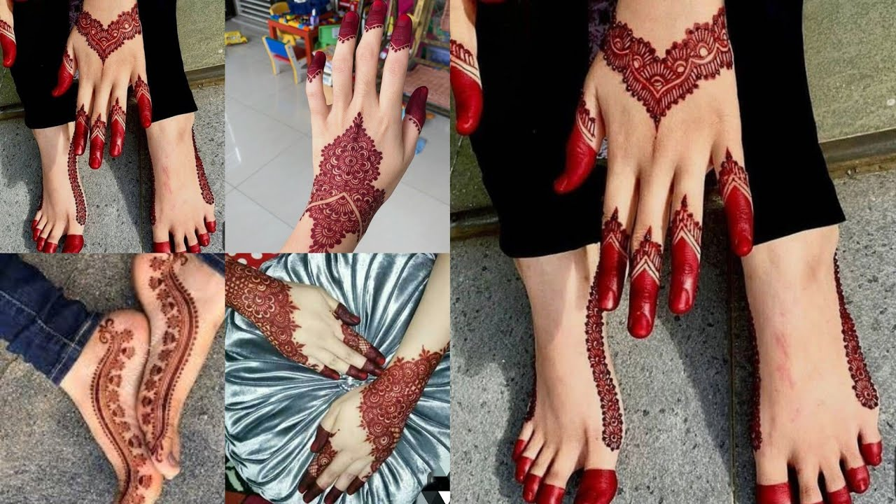 simple bridal mehndi designs for full hands and legs