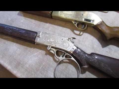Vintage BB cap guns~Hubley Rifleman~Daisy Buck Jones~Crosman 761XL~Rising Phoenix Antiques