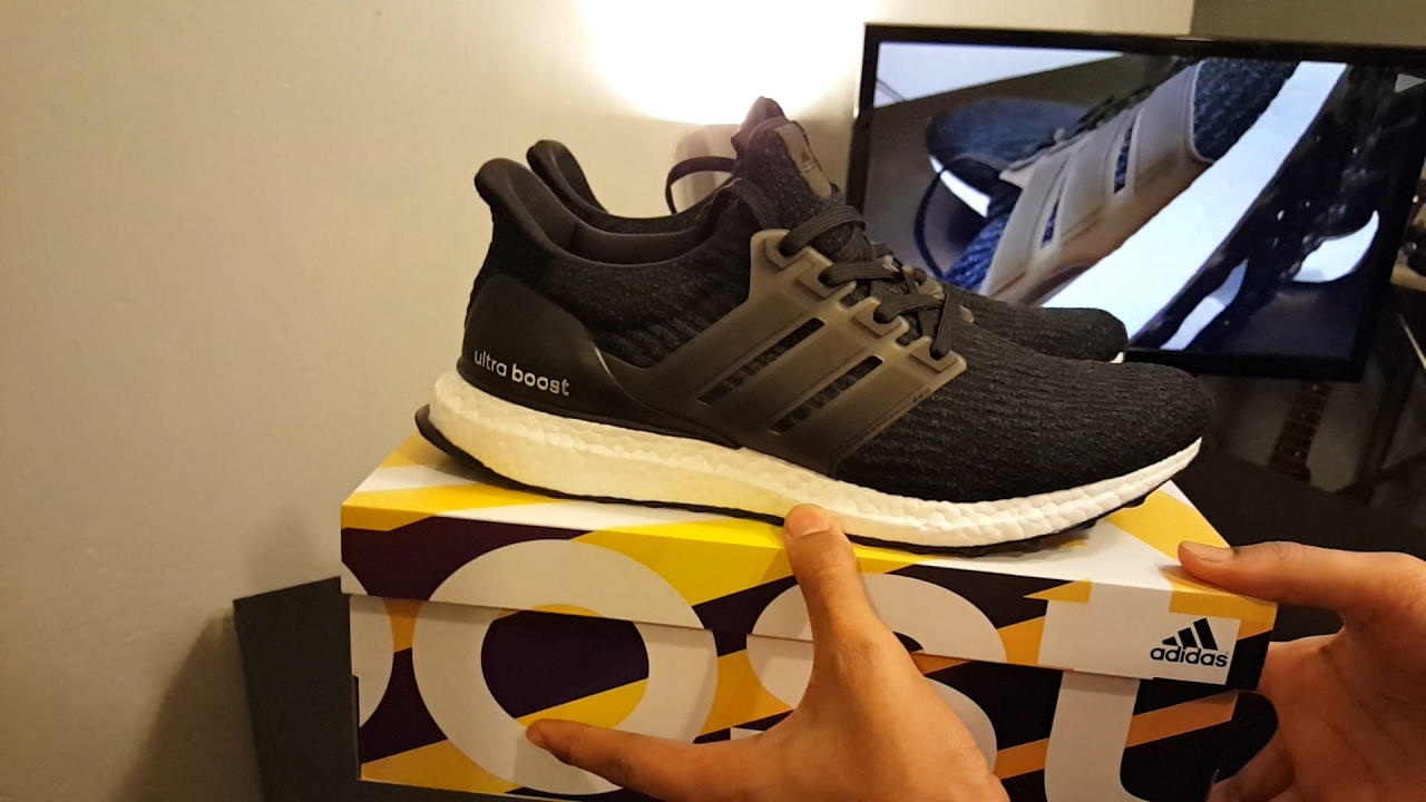 ece467384a344 Adidas Ultra Boost Core Black 3.0 Review + On Feet - YouTube