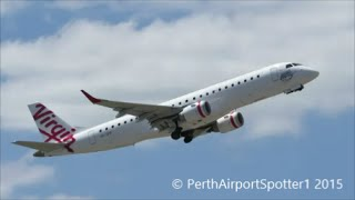 Virgin Australia Embraer E190 - Take Off Runway 21 - Perth Airport YPPH