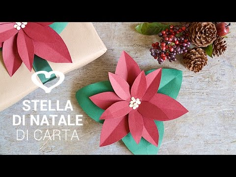 Tutorial come realizzare una stella di natale con la for Youtube lavoretti di natale