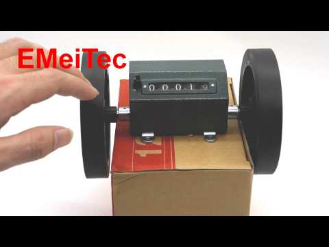 Reversal Rolling / Wheel Counter Meter Counter Length Measure Mechanic Counter Textile Machinery