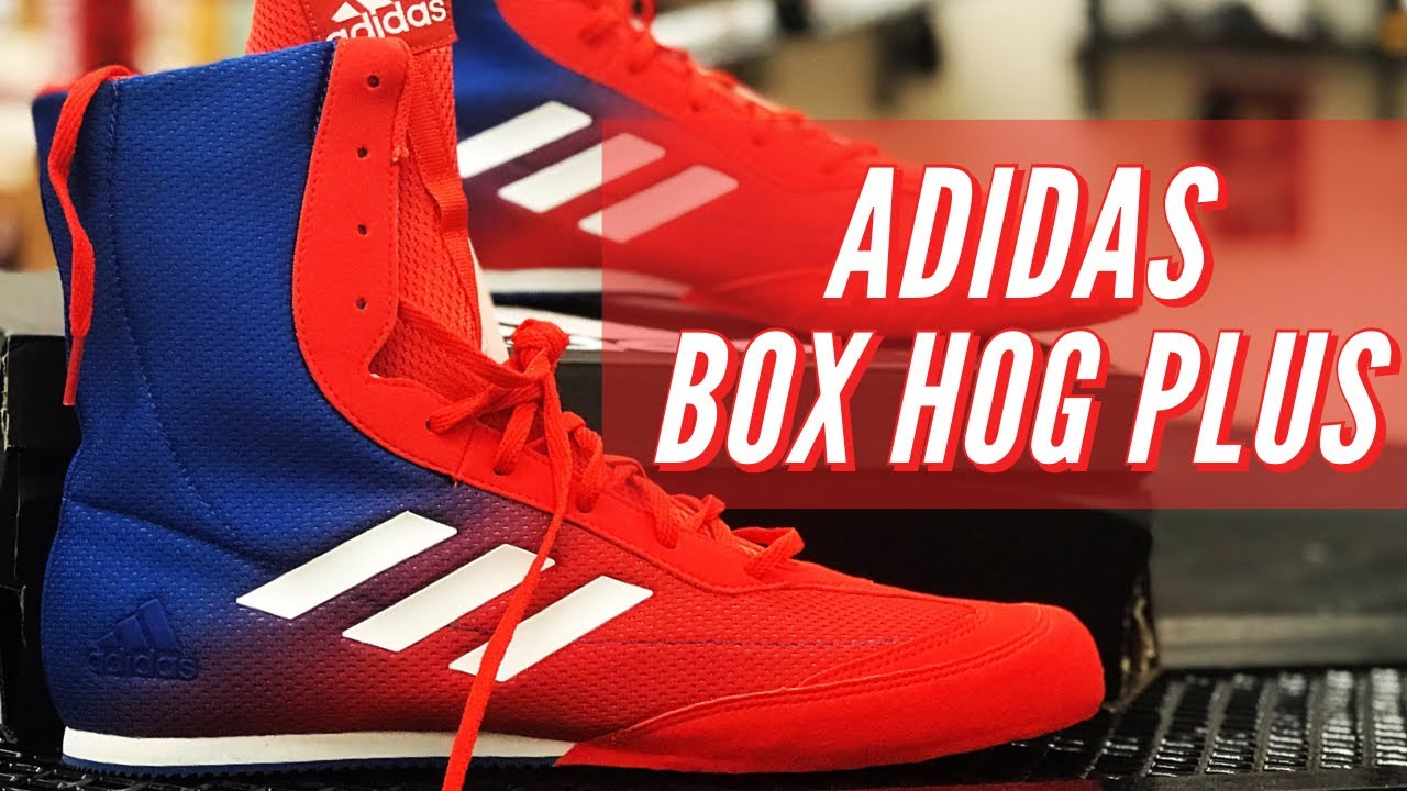 new style f44c6 2dfcb Unboxing: Adidas Box Hog Plus, Boxing Shoes / Boots Review - YouTube