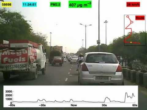 Air pollution in New Delhi auto-rickshaw