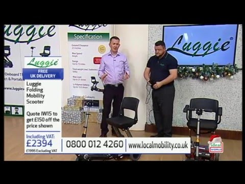 Ideal World TV Luggie Folding Mobility Scooter Show
