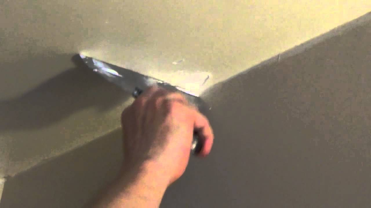How To Patch A Small Hole In The Ceiling Fix Dent Drywall