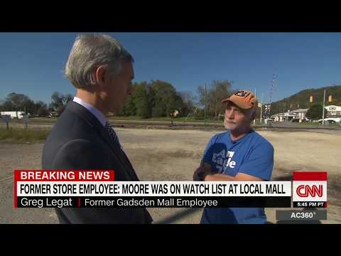Former employee: Moore was on mall watch list