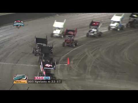 Knoxville Raceway 305 Highlights April 22, 2017