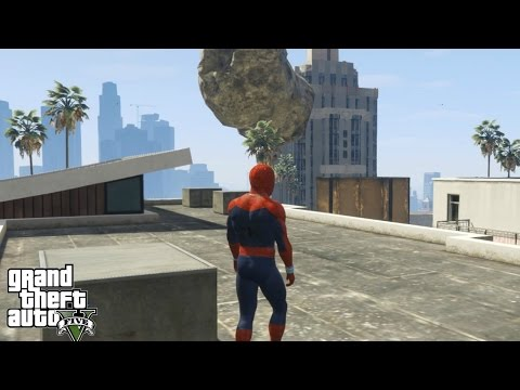 ULTIMATE METEOR SHOWER MOD WITH SPIDERMAN!(GTA 5 Mods Gameplay)