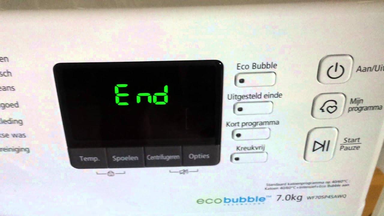 De Samsung Wasmachine End Tune Youtube