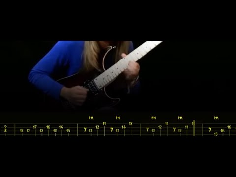 Tina S; Talent or practice ? Perfect guitar technique