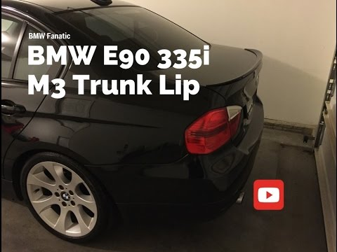 Bmw E90 335i M3 Trunk Lip Spoiler