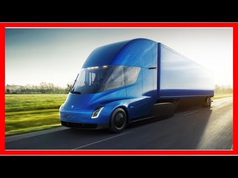 The 1,000-hp electric tesla semi truck is the baddest big rig ever