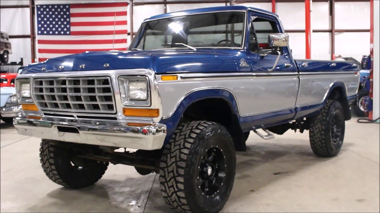1979 Ford F250 Blue silver - YouTube