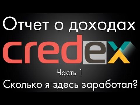 Credex -  Отчет о доходах и мой отзыв о проекте. Часть 1