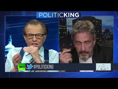John McAfee - Takes On Larry King - One on One