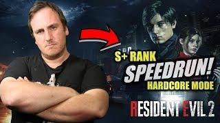 Resident Evil 2: Remake -SPEEDRUN on HARDCORE MODE(S+ RANK)