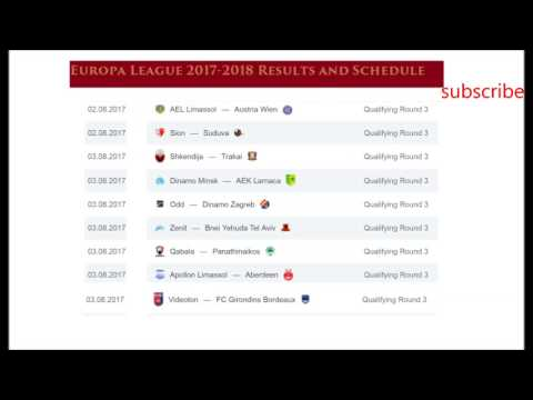 Uefa europa league results and schedule third qualifying round