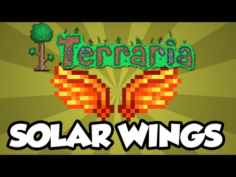 NEW Terraria 1.3 Wings - The 'Solar Wings' - The Best Wings In Terraria 1.3!