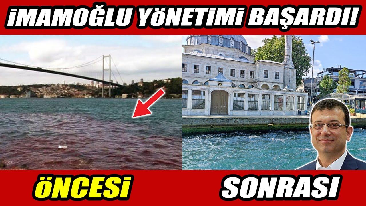 İmamoğlu yönetimi başardı! O görüntüler tarih oldu! İşte İstanbul Boğazı'nın öncesi ve sonrası!