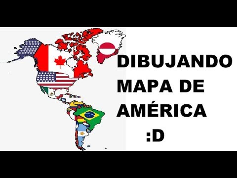 Descargar Video Dibujando mapa de América y con sus banderas :D