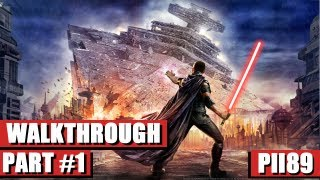 Star Wars The Force Unleashed Gameplay Walkthrough Part 1 - HD PC (HUN)