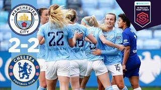 TOP-OF-THE-TABLE THRILLER | Man City 2-2 Chelsea | FA WSL 20/21