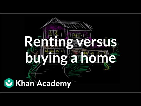 Renting versus Buying a home | Housing | Finance & Capital Markets | Khan Academy