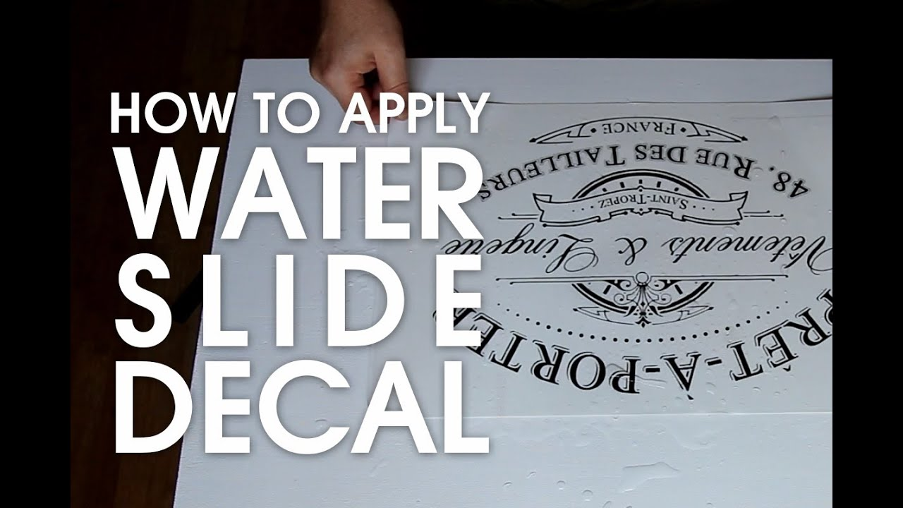 picture regarding Decal Application Instructions Printable called How toward put into action weighty drinking water decal for Shabby Stylish initiatives (component 02)