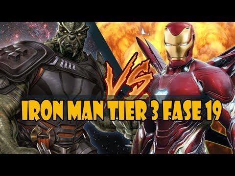[Marvel Future Fight] Iron Man Tier 3 vs Cull Obsidian Fase 19