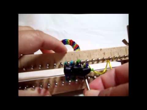 Loom Knit Buckle Dog Collar Part 5