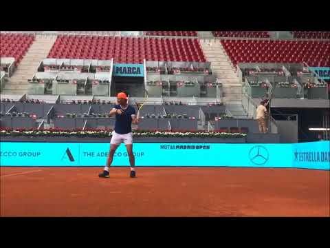 Rafael Nadal Practice in Madrid, 2 May 2019