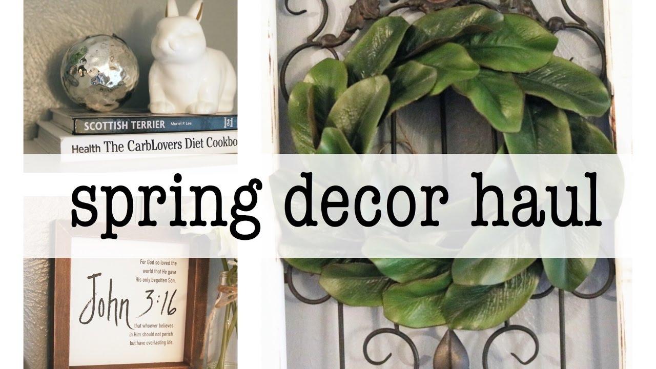 spring home decor haul | farmhouse style march 2017. hobby lobby