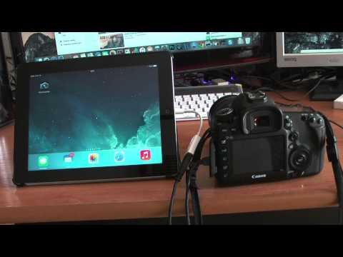 Como usar el ipad como monitor de la Cámara Réflex