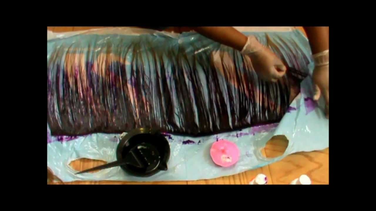 How To Dye Beauty Supply Store Human Hair Youtube