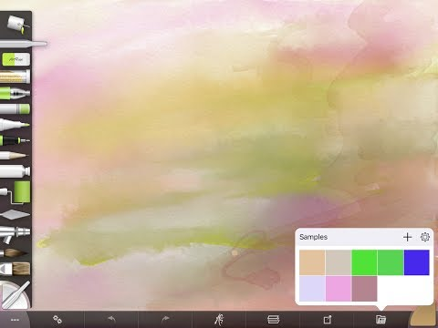 Saving and Sampling Colors in ArtRage for iOS