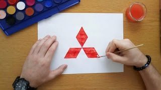 How to draw the Mitsubishi logo (Logo drawing)