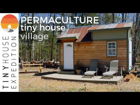 Permaculture Tiny House Community Farm w/ DIY Tiny Homes