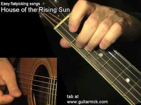 house of the rising sun flatpicking guitar lesson tab by guitarnick youtube. Black Bedroom Furniture Sets. Home Design Ideas
