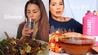 Before|After mukbangers having the coldest water