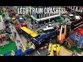Lego Train Crashes in My Lego City! Slow Motion!