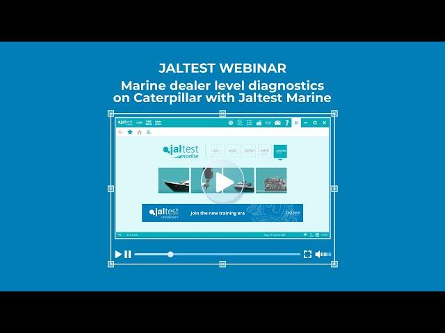 JALTEST WEBINAR | Marine dealer level diagnostics on Caterpillar with Jaltest Marine