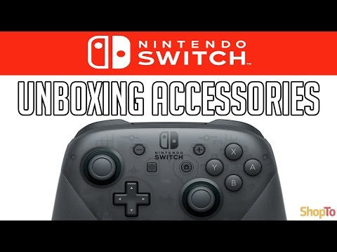 nintendo-switch-accessories-unboxing-|-pro-controller,-coloured-joy-cons,-charging-grip-|-shopto