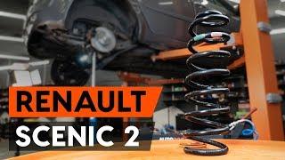 Montaje Muelles de Suspensión traseras izquierda derecha RENAULT SCÉNIC II (JM0/1_): vídeo gratis